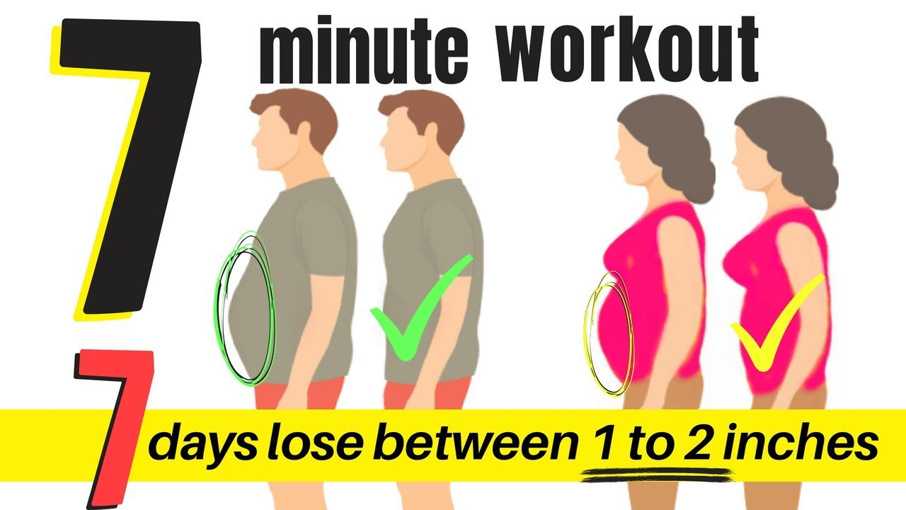 7 DAY WORKOUT CHALLENGE -TO LOSE BELLY FLAB -7 MINUTE HOME WORKOUT FOR MEN  & WOMEN TO LOSE WEIGHT