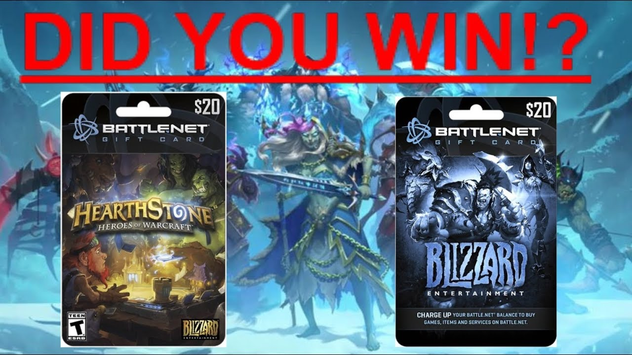 Blizzard 20$ Gift Card Giveaway Announced! Check If You Won! - YouTube