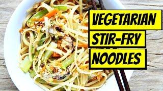 VEGETABLE CHINESE STIR-FRY NOODLES!!  VEGAN
