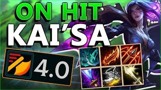 4.0+ ATK SPD ON HIT KAI'SA!! 20+ KILLING SPREE! New On Hit Kai'sa ADC - League of Legends PBE