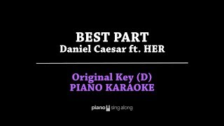 Best Part (Lower Key Piano Karaoke Cover) Daniel Caesar ft. H.E.R with Lyric