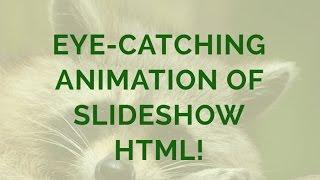 Eye-catching Animation of Slideshow HTML! thumbnail
