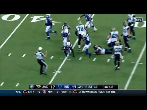 Robert Mathis Forcing and Recovering Fumble in Final Game 1/1/17