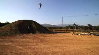 andreu lacondeguy training at his new fmx compound