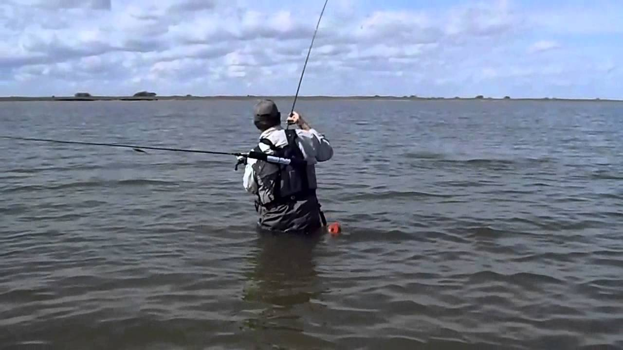 wade fishing in port mansfield tx youtube