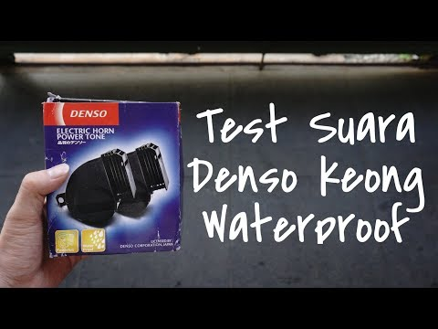 Test Suara Klakson Denso Keong Waterproof - Klakson Muantaaabbb