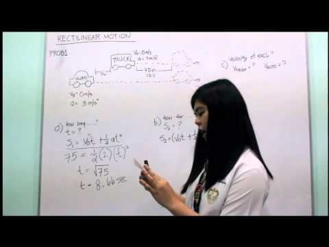 rectilinear motion with variable acceleration pdf