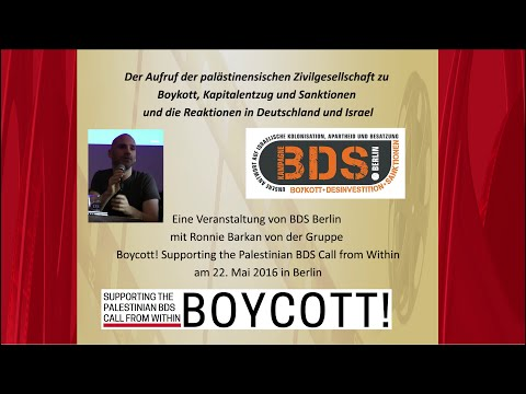 Ronnie Barkan adressing the Left in Berlin about BDS