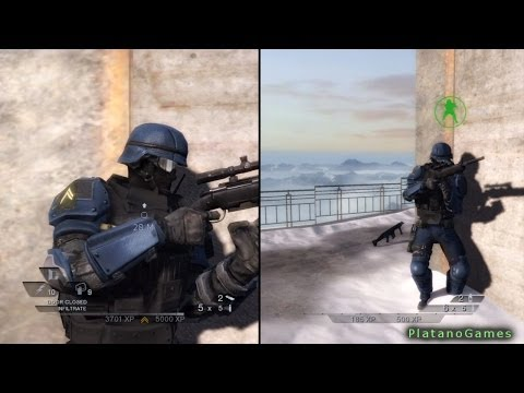 Rainbow Six Vegas 2 - Splitscreen Multiplayer Campaign Mode - Part 1 - HD