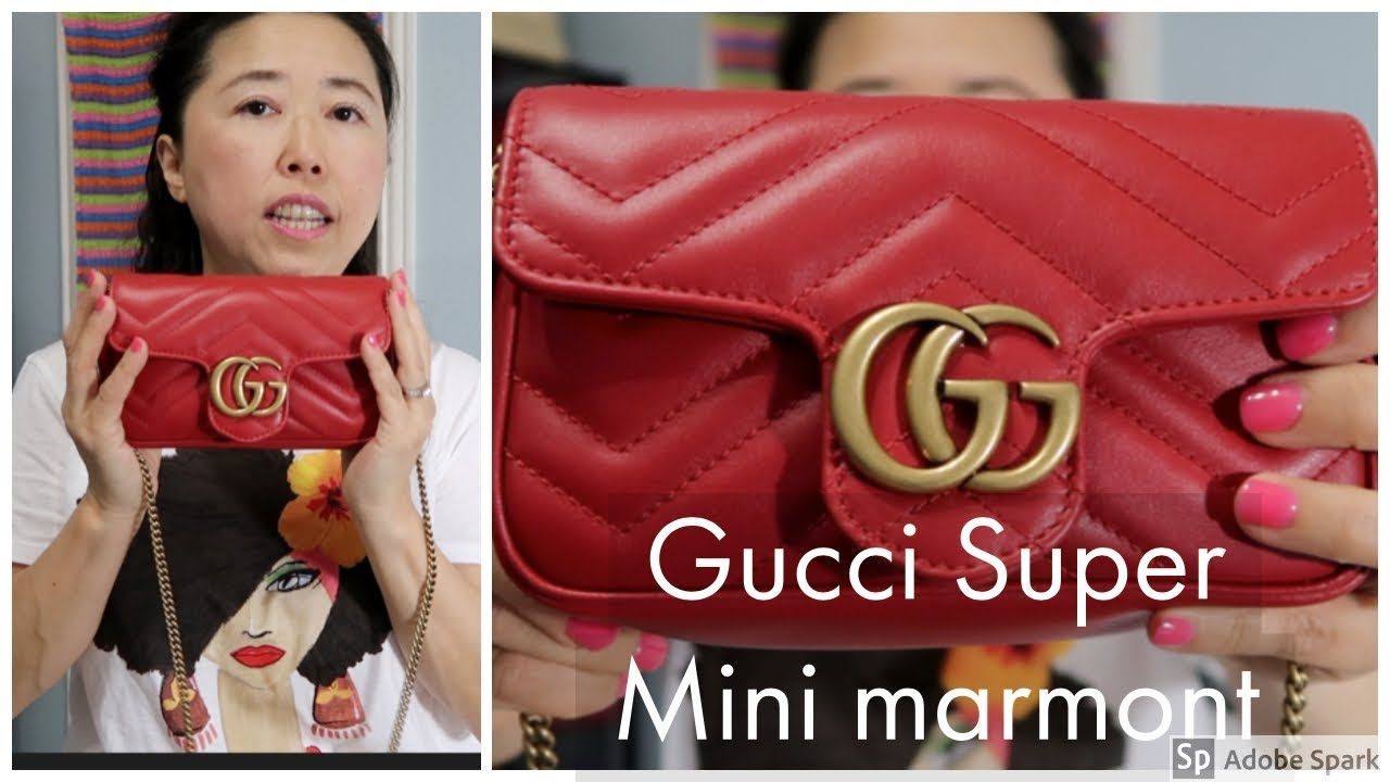 e70f8baef0be12 Gucci marmont super mini red - What's in my bag - YouTube