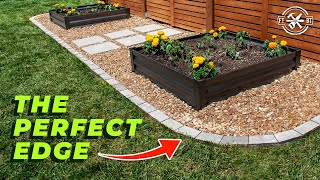 How to Make a Raised Garden Bed with Paver Edging