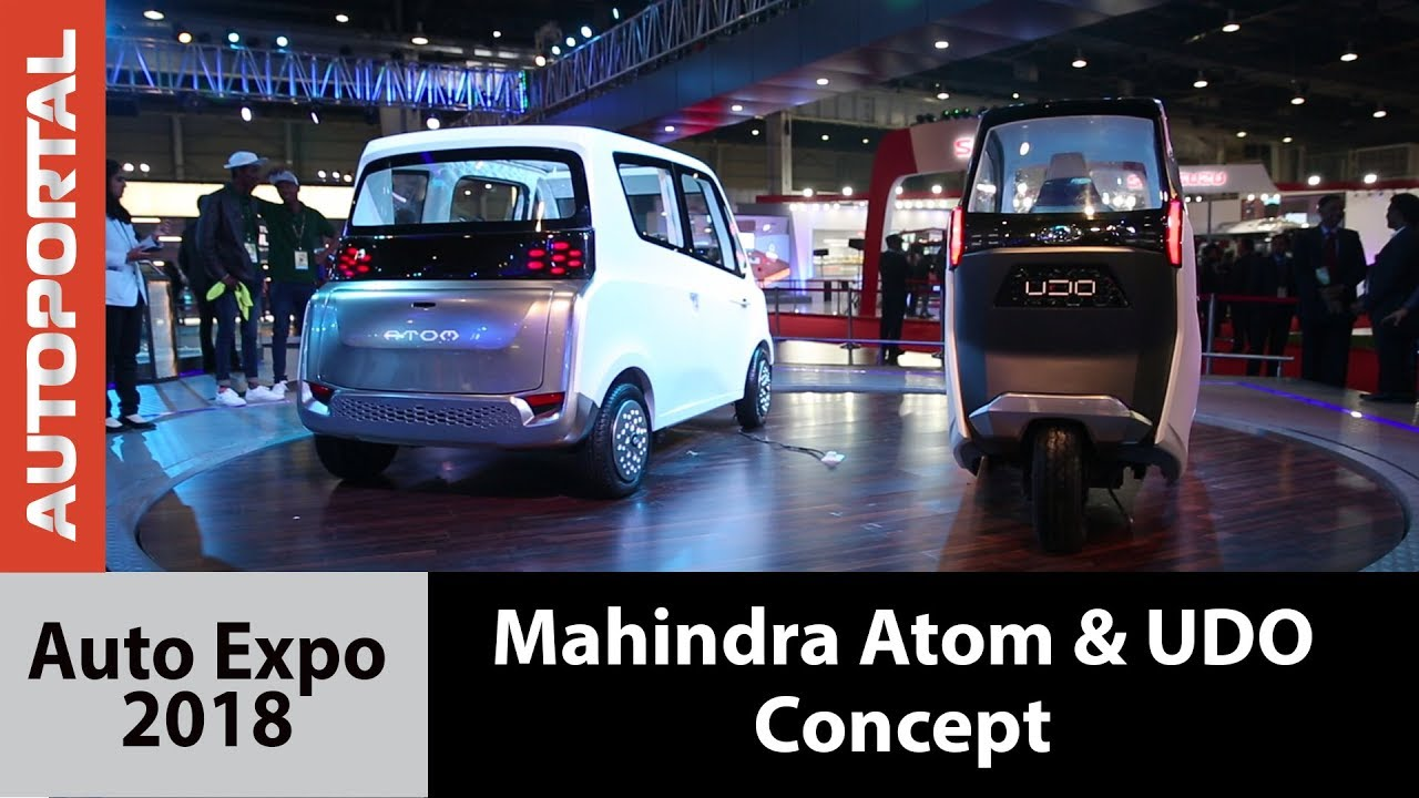 Mahindra Atom and UDO Concept at Auto Expo 2018
