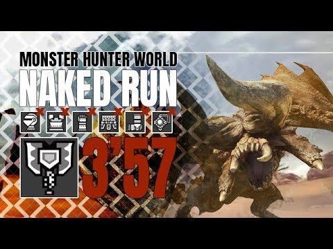 Monster Hunter World ♦ Naked Run ♦ Diablos 3'57 thumbnail