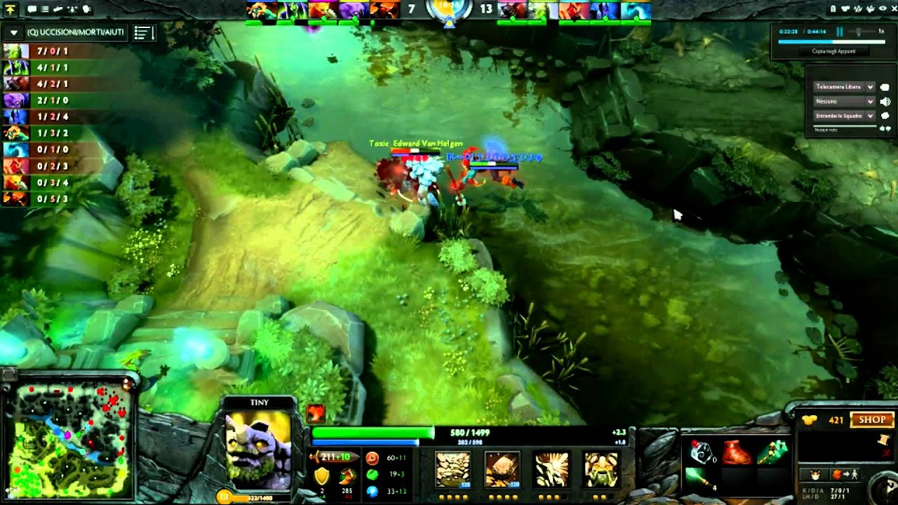 dota 2 gameplay ita pc multiplayer guide to tiny roccia time