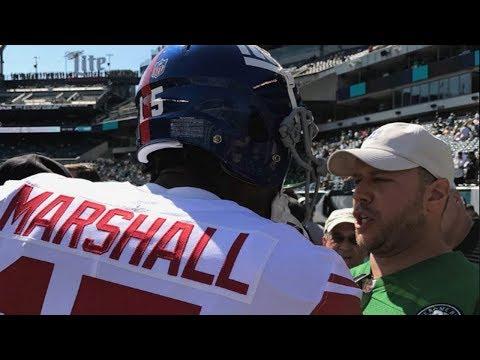 Brandon Marshall SPITS on an Eagles Fan!