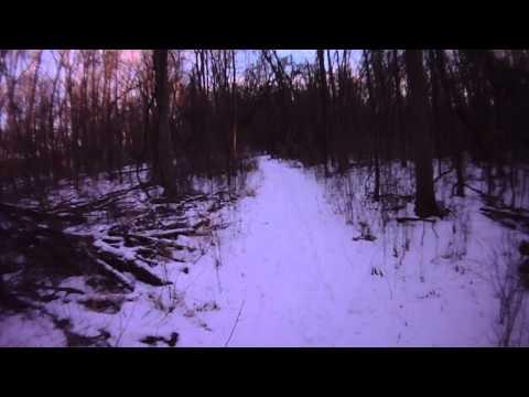 Shiawassee Refuge Woodland Trails Winter Fat Bike Ride