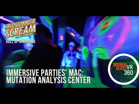 Midsummer Scream 2017 Hall of Shaddows - Immersive Parties' MAC: Mutation Analysis Center 4K 360 3D
