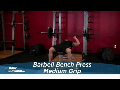 Barbell Bench Press Medium Grip - Chest Exercise - Bodybuilding.com