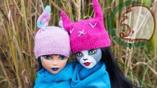 Как сделать шапку с ушками для кукол. Ho to make animal-hat