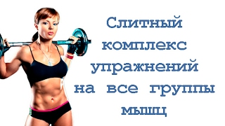 Слитный комплекс упражнений со штангой на все группы мышц