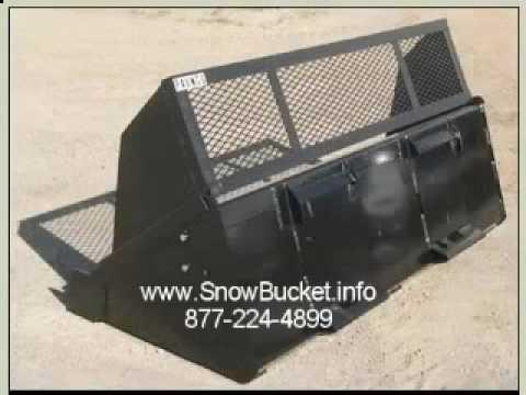 Bobcat Snow Bucket Skidsteer Snow Bucket Bobcat