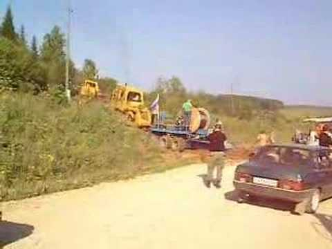 Transsyberia, Russian Cable Layer destroys road and proceeds