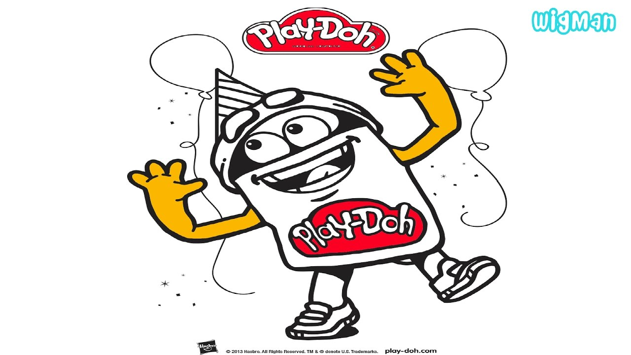 Coloring Play Doh figure for kids- Play Doh coloring pages for kids ...