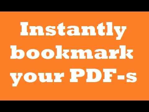 Page thumbnails and bookmarks in PDFs