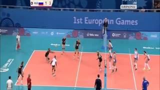 Volleyball Damen ES 2015:Deutschland-Russland