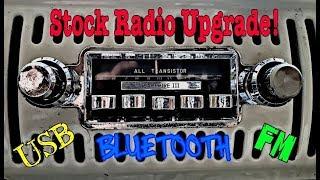 VW Bus Stock Radio Upgrade!!