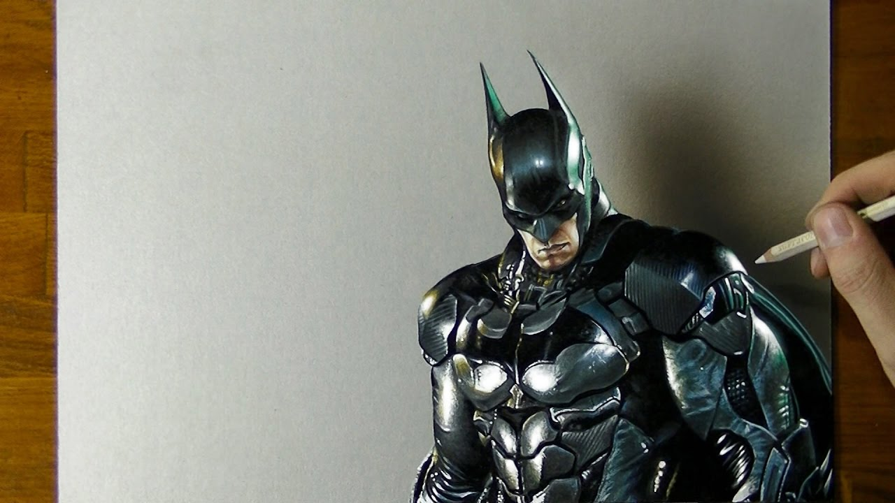 Batman Drawing - How to draw 3D Art - YouTube