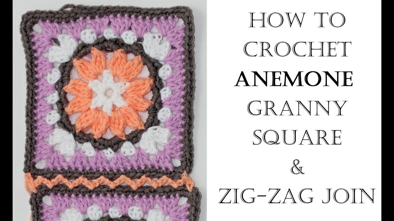 How to Crochet and Join Anemone Granny Square - YouTube