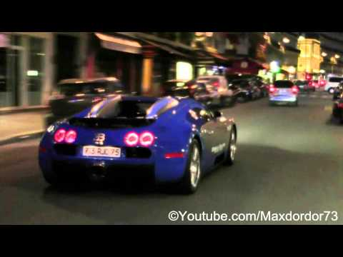 "Bugatti Veyron ""Bateaux Mouches"" in Paris"