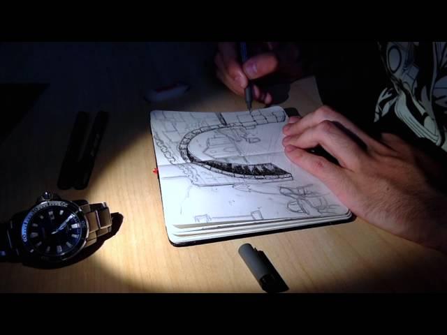 """Making of """"Piazza Regina Margherita Live Sketch"""""""