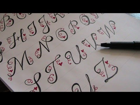 how to write in cursive - beautiful cursive fancy letters - YouTube