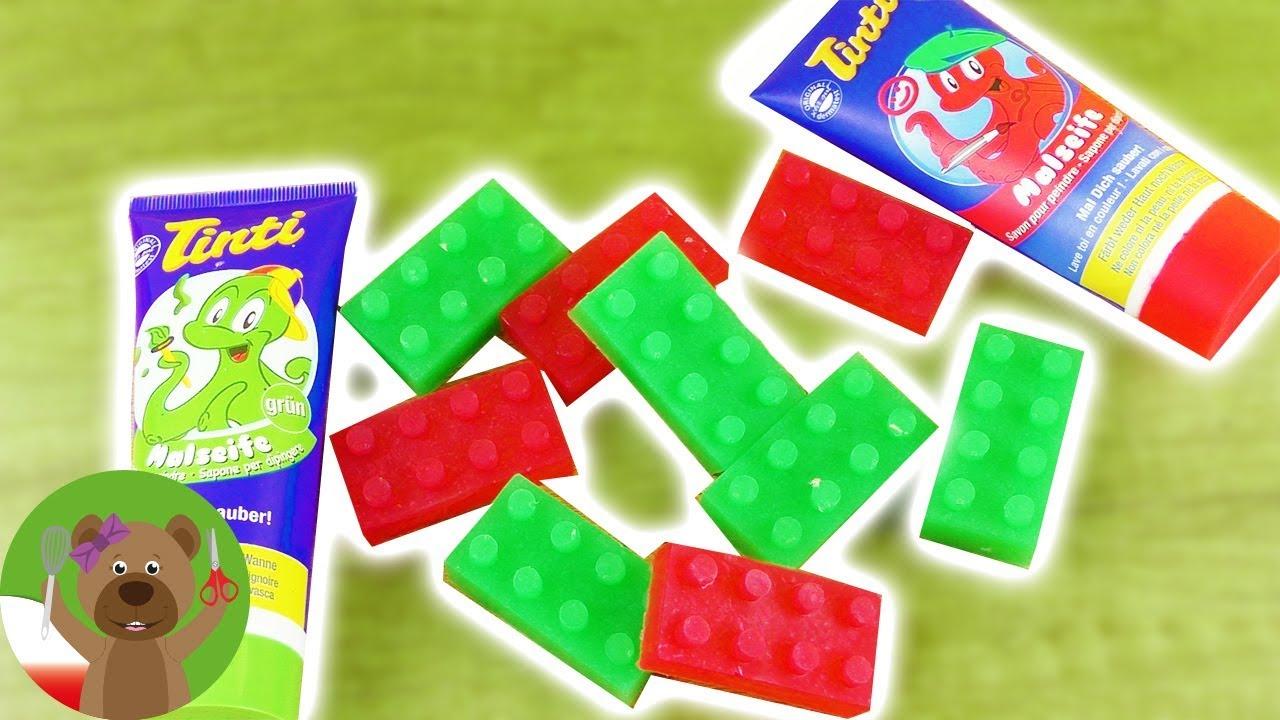 Mydło w kształcie klocków LEGO   test barwnika do mydła   pomysł na prezent