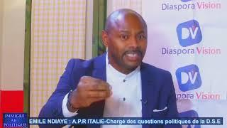 EMILE NDIAYE A.P.R ITALIE - Chargé des questions politiques de la D.S.E