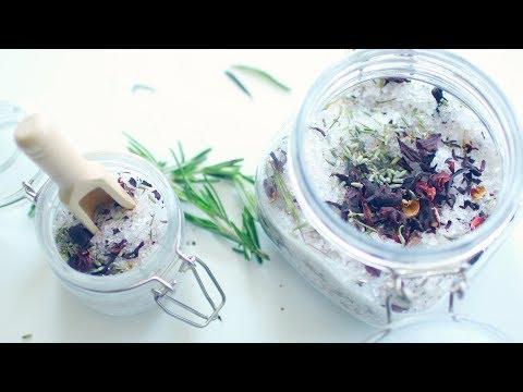 HOW TO MAKE BATH SALTS | HERBAL Bath & Foot Salts!