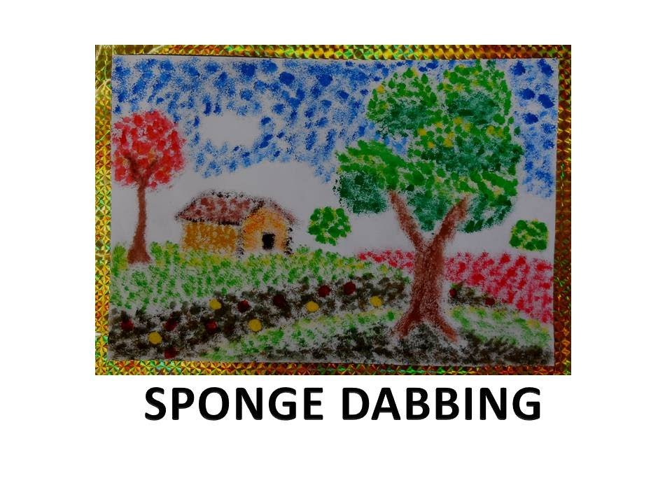 fun for preschoolers sponge dabbing  diy  youtube clipart tree no leaves free tree without leaves clipart