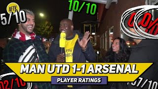 Man Utd 1-1 Arsenal Player Ratings | Pepe Missing But Sakha Emerging! (feat Troopz, Helen & Stylezz)