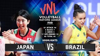 Japan vs Brazil | Highlights | Women's VNL 2019