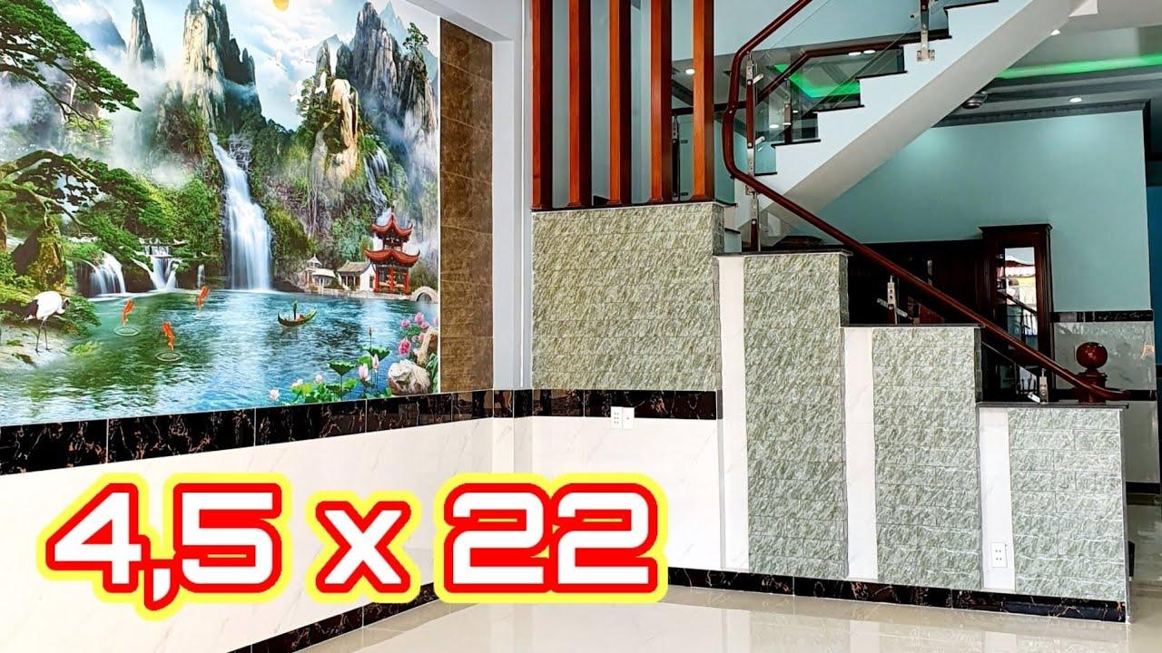 Mẫu thiết kế nhà Ống đẹp 4,5m x 22m | Mẫu nhà đẹp HOÀN HẢO