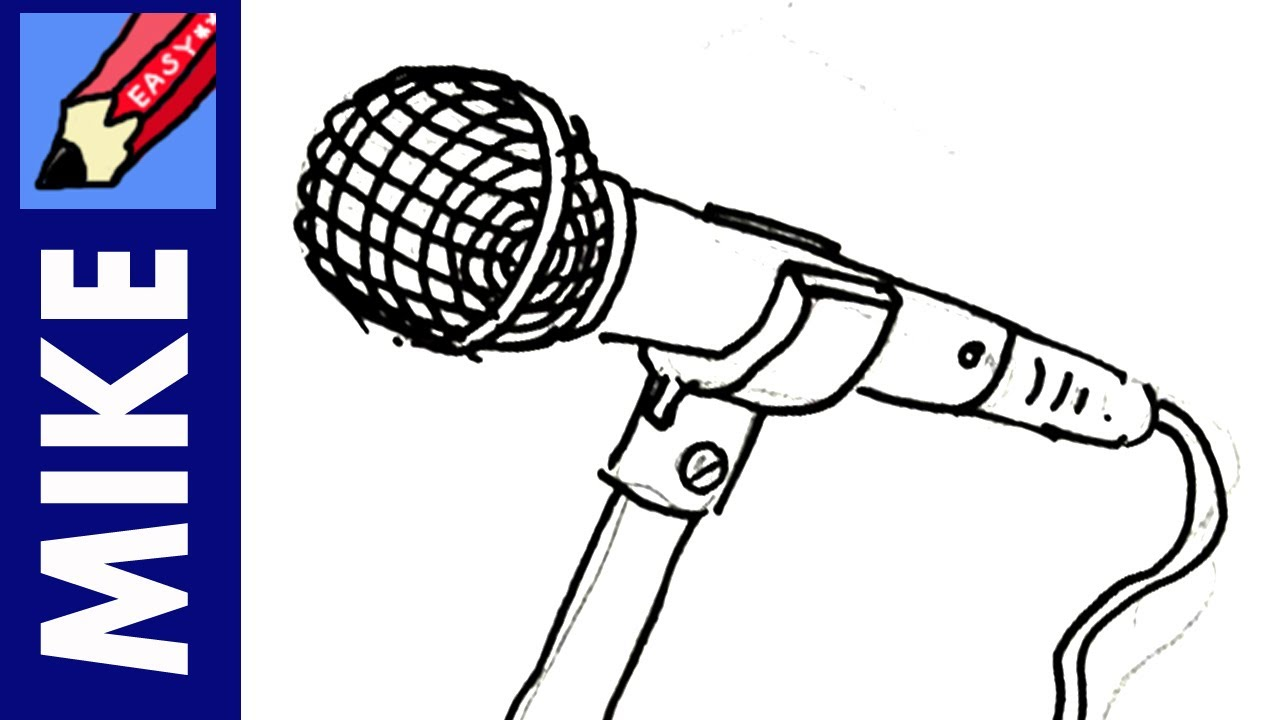 Line Art Microphone : How to draw a microphone real easy youtube