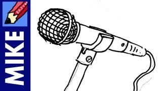 How to draw a Microphone Real Easy
