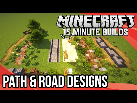 Minecraft 15-Minute Builds: Path & Road Designs