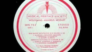 Mozart / Karl Ristenpart: Eine Kleine Nachtmusik - Serenade in G major, K. 525 - Minuetto