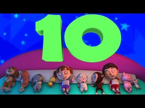 Sepuluh Di Tempat Tidur   3D lagu anak-anak   Ten In the Bed   Luke and Lily Indonesia   Lagu Anak