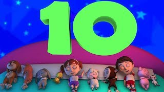 Sepuluh Di Tempat Tidur   3d Lagu Anak-anak   Ten