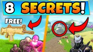 Fortnite: FREE LEGENDARY WEAPONS + MAP SECRETS! - 8 Fortnitemares Secrets ft. Battle Royale Gameplay