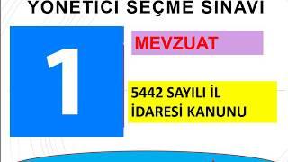 5442 SAYILI İL İDARESİ KANUNU